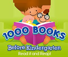Logo of the 1000 Books before Kindergarten program.