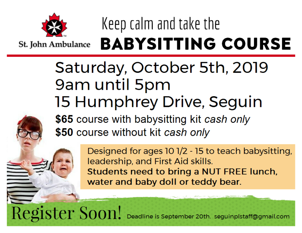 Babysitting Course October 5th