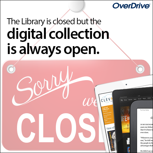 OverDrive Ad and Link to OverDrive information.