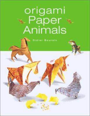 Book cover of Origami Paper Animals. Select to place hold on book.