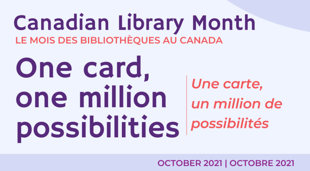 Canada Library Month 2021 Banner