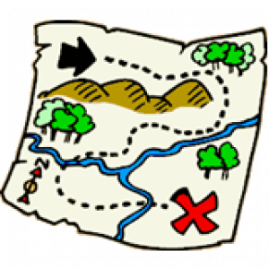 Image of a map. Decorative